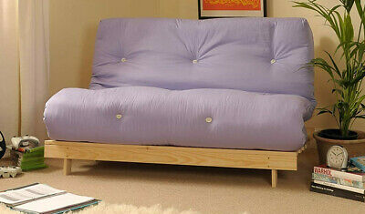 £9.99 • Buy Futon Double Sofa Bed With Lilac Coloured Mattress