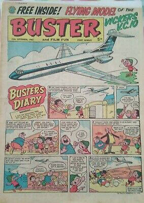 £9.51 • Buy Vintage Buster And Film Fun Comic Issue 1 15 Sept 1962 (free Gift Not Included}