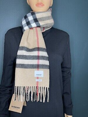 £177.26 • Buy Authentic Burberry Unisex The Classic Check Cashmere Scarf Color Archive Beige