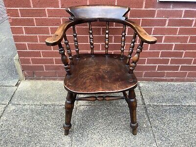 £100 • Buy Victorian Smokers Bow/captains Chair
