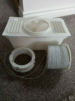 £1.50 • Buy Universal Tumble Dryer Condenser Air Vent Kit White Indoor Box Hose Adapter Pipe