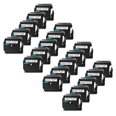 $36.09 • Buy 20PK For Brother P-touch PT-85 12MM Label Tape MK231 M231 Black On White