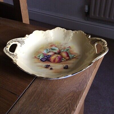 £25 • Buy Aynsley China Orchard Gold Fruit Decorative Two Handled Trinket Dish/Tray 10 In