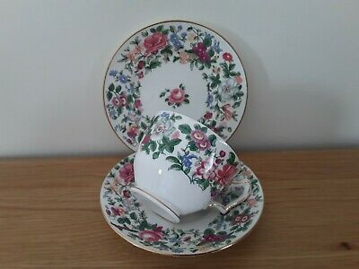 £8 • Buy Crown Staffordshire China Trio Breakfast Cup Saucer Tea Plate Thousand Flowers