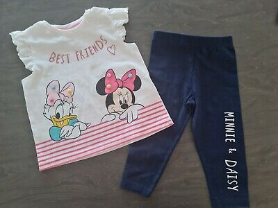 £6.50 • Buy DISNEY Baby Girls 6-9 Months MINNIE MOUSE Leggings And Top Outfit (A313)