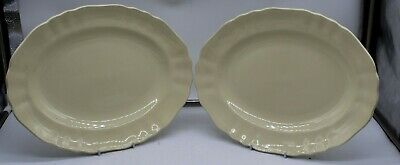 £12.99 • Buy 2 Antique Sunshine J&G Meakin Yellow Cream Large Oval Platters SOL 391413