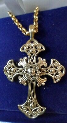 £240 • Buy 9ct Gold Belcher Chain With Cross