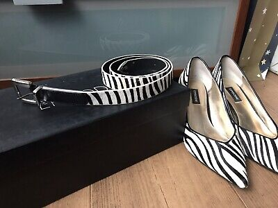 £15 • Buy Episode Zebra Hair Print Shoes Size 4 And Matching Belt - Free Postage