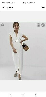 £6 • Buy ASOS White Denim Dress Size 18 New With Tags