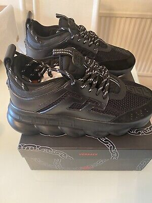 £499.99 • Buy Versace Chain Reaction Black Size Uk 9 / EU 43 *Brand New With Box*