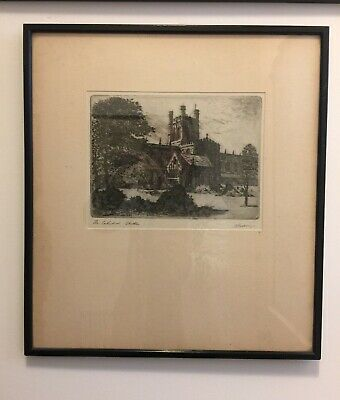 £20 • Buy 1930's Vintage Signed Framed Print Of Chester Cathedral.