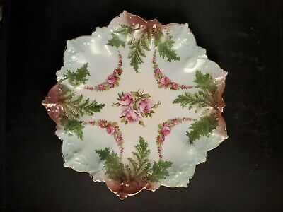 $9.87 • Buy Antique M Z Austria  Hand Painted Plate With Roses