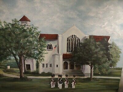 $50 • Buy The Citadel South Carolina Original Art The Chapel And Cadets Painting On Canvas