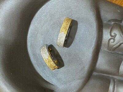 AU75 • Buy 9ct Yellow & White Gold Huggie Style Reversible Earrings App 3.5g Weight