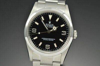 $ CDN9159.07 • Buy Mens Rolex Explorer I Stainless Steel Automatic Black Dial Watch F Serial 114270