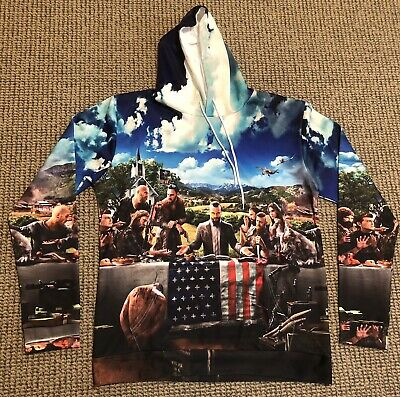 AU20.50 • Buy Far Cry 5 Hoody Jumper Pullover Mens Large Stretch Pocket Thick Warm NEW Hoodie