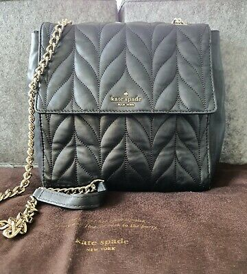 AU50 • Buy Kate Spade Black Leather Quilted Handbag/Backpack In Excellent Condition