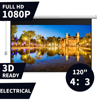AU164.99 • Buy Electric Projector Screen 120  Motorised Projection Screen With Remote Control