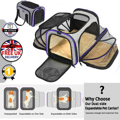£33.99 • Buy Pet Dog Cat Rabbit Portable Travel Carrier Tote Cage Bag Crate Kennel Box Holder