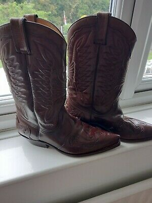 £57 • Buy Sancho Cowboy  Leather Boots 11. Excellent Condition, Solw And Heel Good