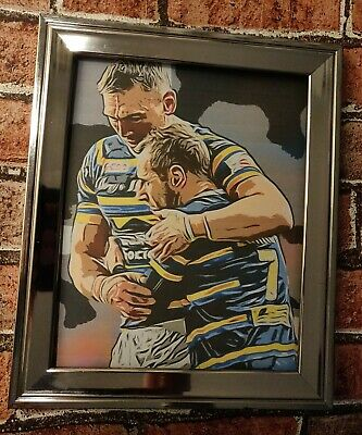 £3.59 • Buy Leeds Rhinos Kevin  Sinfield Rob Burrow Tribute Rugby Picture Print