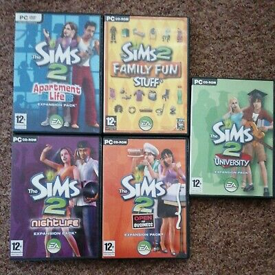 £29.99 • Buy The Sims 2 Apartment Life Expansion Pack And 4 Extra Expansion Packs Pc CD-ROM