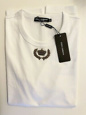 £239.03 • Buy Dolce & Gabbana Embroidered Crown Tshirt Size XL (52)