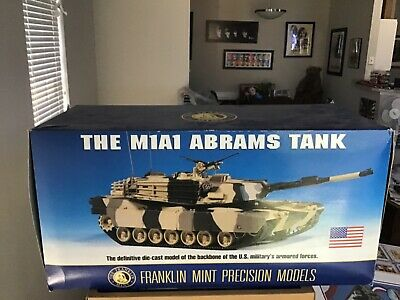 $399.95 • Buy The Franklin Mint M1A1 Abrams Tank 1 24 Precision Models Mint In Box Awesome!