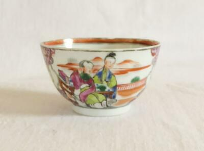 £9.99 • Buy Antique 18th Century Chinese Tea Bowl Painted In Mandarin Pattern