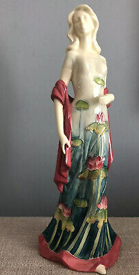 £29 • Buy Porcelain Female Lady Figurine Ornament Water Lily Dress Decoration 14 Ins
