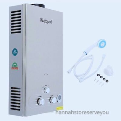 £118.55 • Buy Water Heater Propane Gas Lpg Tankless Stainless Steel W/ Shower Accessories 12 L