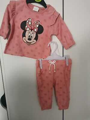 £3 • Buy MINNIE MOUSE Tracksuit Baby Girl DISNEY 3-6 Months Two Pieces Set