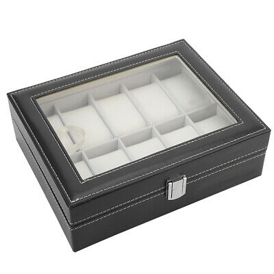 $ CDN34.31 • Buy Elegant Jewelry Display Case Watch Box 10 Slots Flannel Lining For Storing