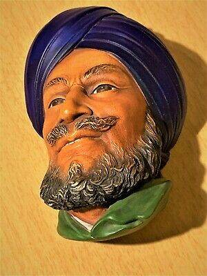 £12.31 • Buy Vintage Bossons Chalkware Head  The Sikh  Wall Plaque 1966