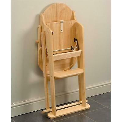 £45 • Buy Unisex Baby  WOODEN FOLDING HIGHCHAIR IN NATURAL FINISH (Factory Second)