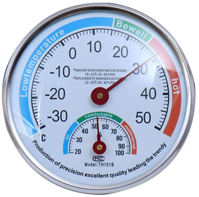 £11.84 • Buy Dial Thermometer Wall Pointer Hygrometer High Precision For Greenhouse Baby Room