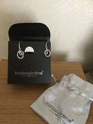 AU14.76 • Buy Fashionvictime Paris Sliver Earrings Still Box & In Bag Unwanted Gift