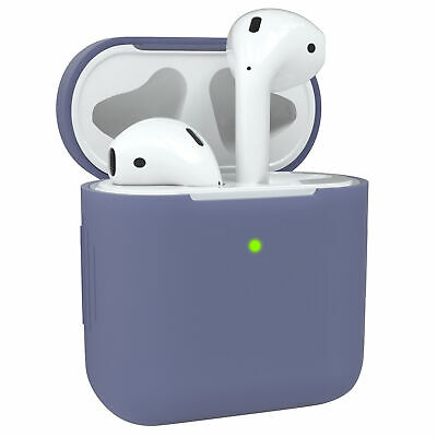 $ CDN7.43 • Buy Protective Cover For Apple AirPods 1 & 2 Silicone Skin Case Steel Blue
