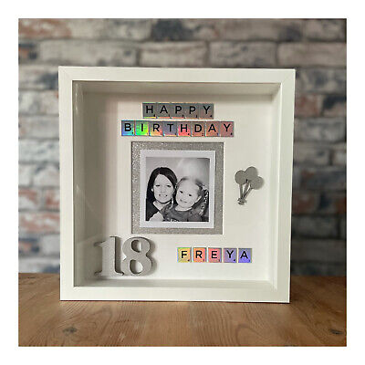 £20 • Buy Personalised 18th Birthday Photo Frame - 25cm X 25cm - Gifts For Her