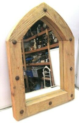 £79.99 • Buy Large Decorative Church Gothic Arched Door Wooden Frame Garden Wall Mirror 70cm