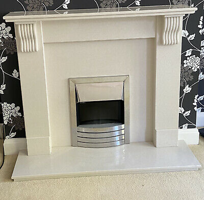 £275 • Buy Agglomerate Marble Fire Surround And Electric Fire