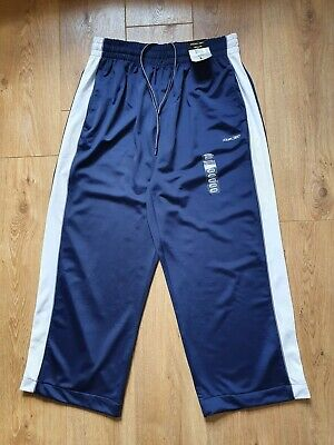 £6.99 • Buy Reebok Blue Size Large Tracksuit Bottoms Track Pants Joggers See Measurements