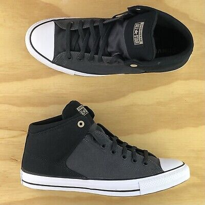 $75 • Buy Converse Chuck Taylor All Star Street Mid Black White Athletic Shoes 160879F Sz
