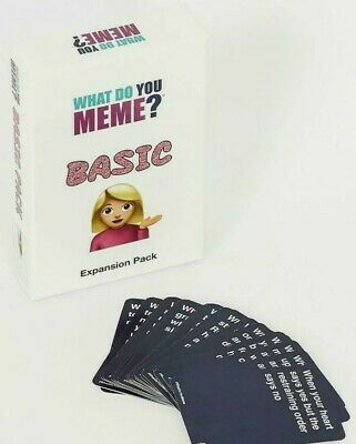 AU14.69 • Buy What Do You Meme? Basic Expansion Pack (Card Game Add On Extras) *New & Sealed*