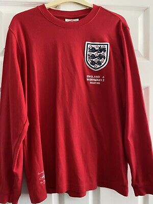 £45 • Buy Bobby Moore #6 ENGLAND 1966 World Cup LONG SLEEVE Shirt Jersey UMBRO Adult L 66