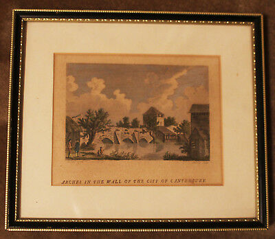 £10 • Buy 18th Century Hand Coloured Engraving 'City Of Canterbury' By Morris