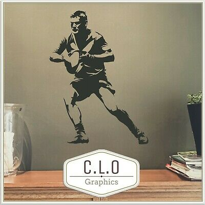 £15.99 • Buy Rugby Vinyl Wall Sticker Transfer Decal Art Decor Union League Graphic Mural UK