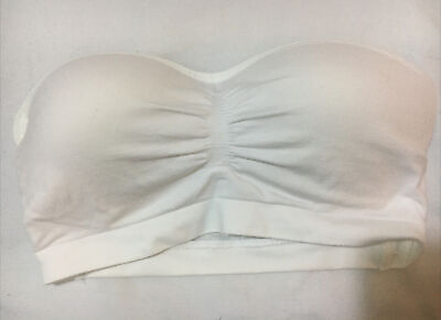 £7.99 • Buy Marks & Spencer ANGEL GIRLS SEAMFREE PADDED STRAPLESS BANDEAU TOP In WHITE Sz S