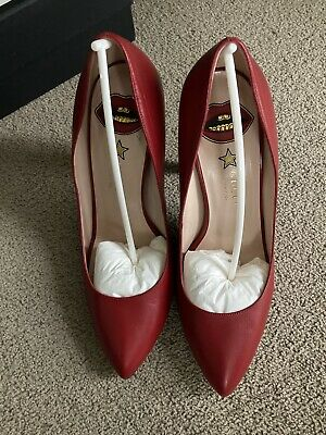 AU182.64 • Buy Gucci Red Pointed Leather Court Shoes Eu40 Uk7