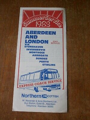 £1.50 • Buy Northern Scottish Timetable Leaflet-Aberdeen To London 1988